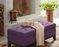 Linley Fabric Storage Ottoman modern-footstools-and-ottomans