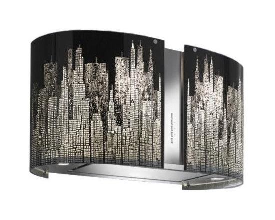 Futuro Futuro 27-inch Murano Island Range Hood, New York, Halogen, Ducted - Dimensions: