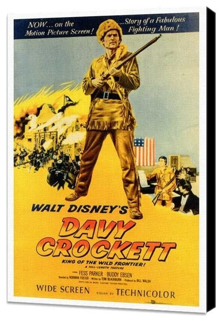 Davy Crockett 27 x 40 Movie Poster - Style A - Museum Wrapped Canvas prints-and-posters