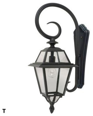 GLOBE Outdoor Lanterns. Jersey 27 in. Downward Wall Mount Outdoor Black Lantern contemporary-outdoor-wall-lights-and-sconces