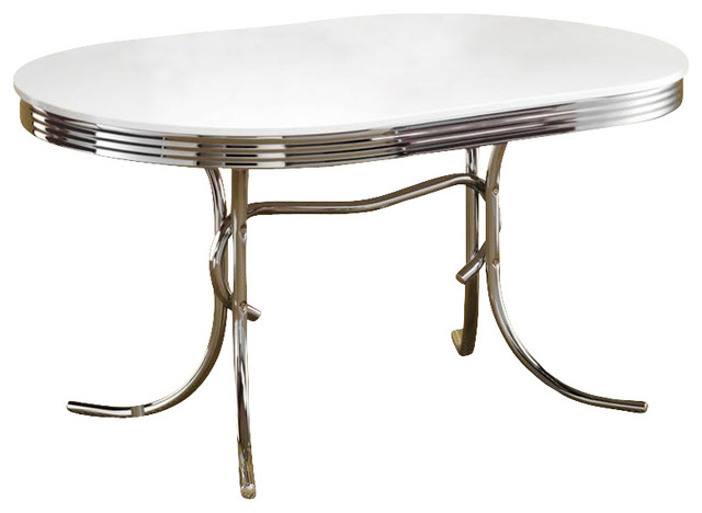 Oval Dining Table With White Top Midcentury Dining Tables Other