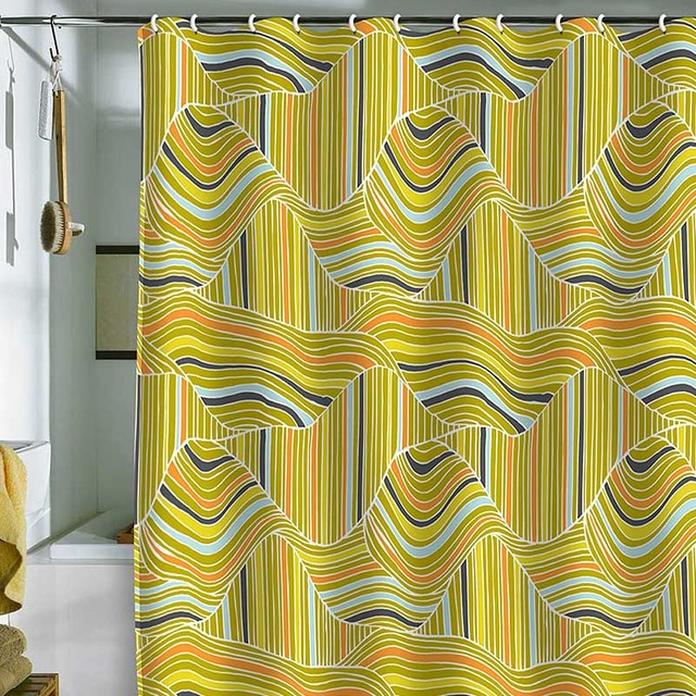 DENY Designs Heather Dutton Dunes Shower Curtain contemporary-showerheads-and-body-sprays