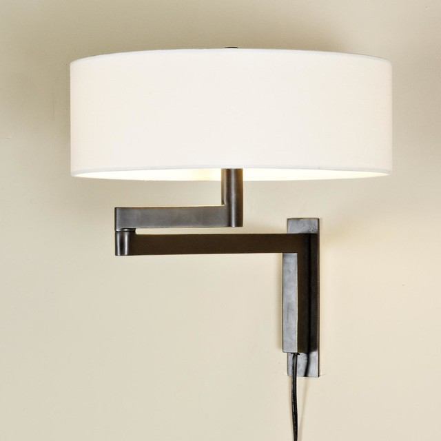 swing arm wall lamp 2 finishes lamp shades by shades of light. Black Bedroom Furniture Sets. Home Design Ideas