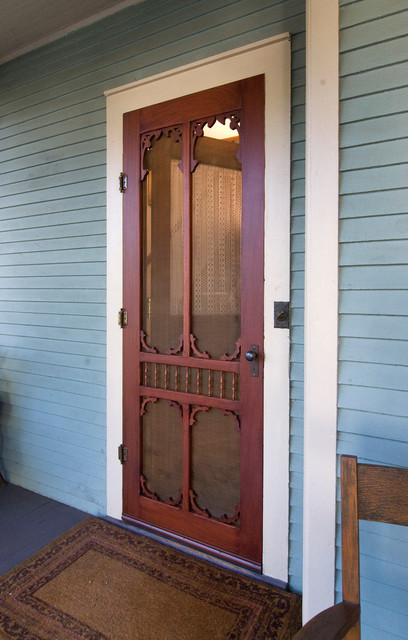Victorian Style Screen Door by Vintage Doors Farmhouse Entry new york