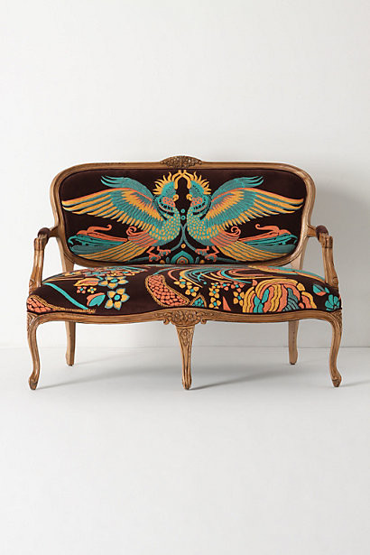 Louisa Settee, Cockatoo eclectic love seats