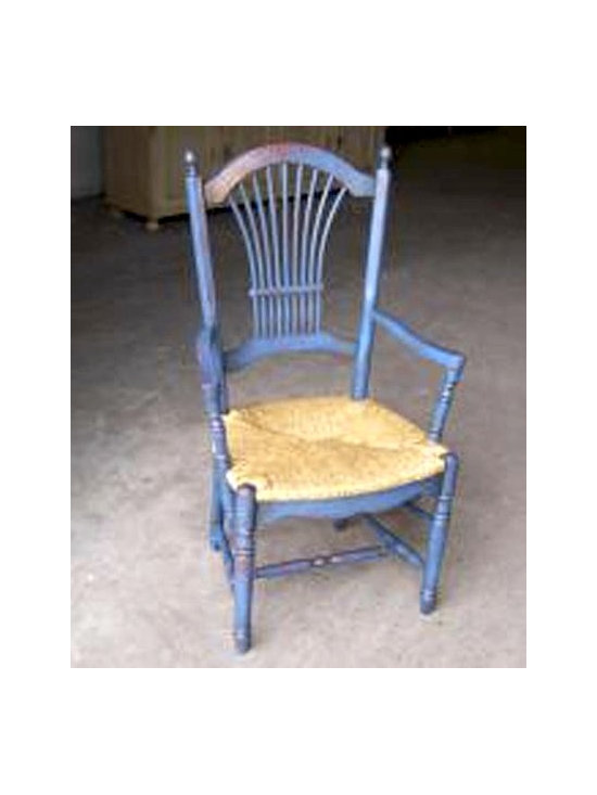 Fan Back Dining Chair with Custom 2 Color Rub Through - Made by http://www.ecustomfinishes.com