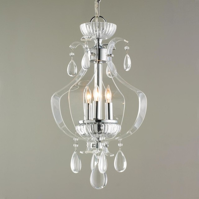 Crystal and acrylic mini chandelier chandeliers by shades of light - Bathroom chandeliers crystal ...
