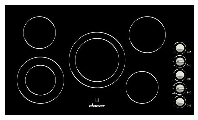 "Dacor Distinctive 36"" Electric Cooktop, Black Ceramic Glass 