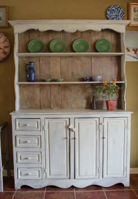 Rustic Farmhouse China Hutch china-cabinets-and-hutches