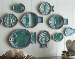 Malibu Fish Plates, Set of 9 eclectic serveware
