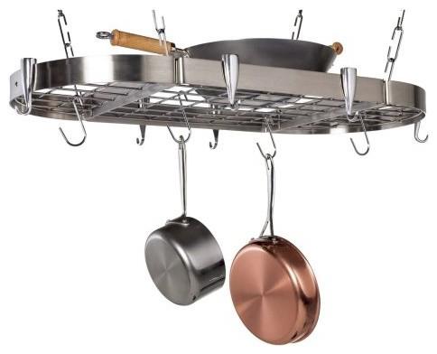 Carta Stainless Steel Oval Pot Rack contemporary-pot-racks