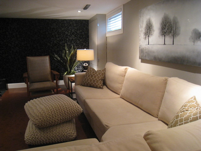 Basement hang out contemporary basement montreal by wow great