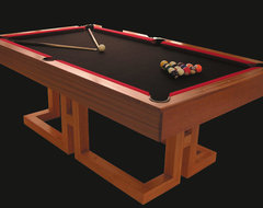 Custom made Solid Wood Contemporary Billiard Table contemporary