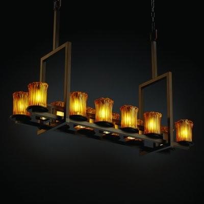 Justice Design Group Veneto Luce GLA-8719-16-AMBR-DBRZ Dakota 12-up and 5-Downli modern-chandeliers