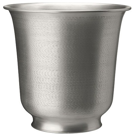 Hasseln T Plant Pot Silver Contemporary Indoor Pots