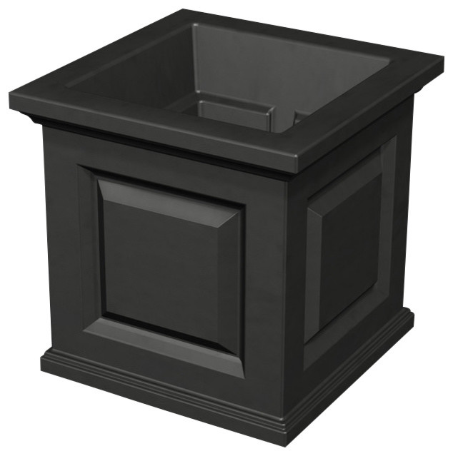 nantucket planter black contemporary outdoor pots and planters by mayne