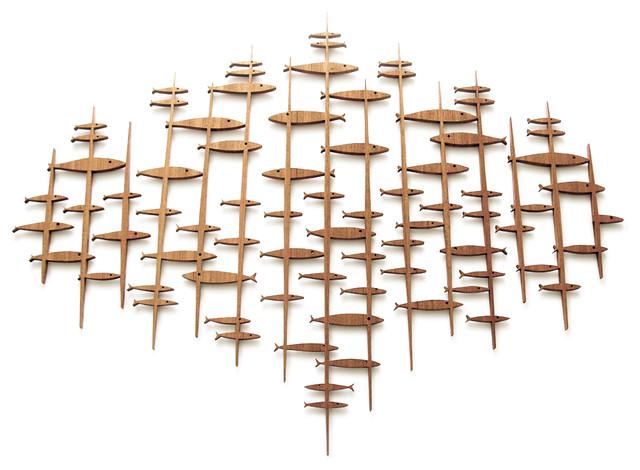 midcentury modern fish sculpture midcentury wall. Black Bedroom Furniture Sets. Home Design Ideas