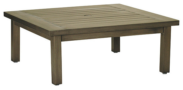 Club Outdoor Coffee Table, Patio Furniture traditional-coffee-tables