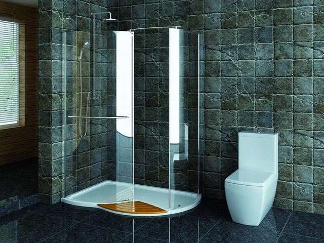Technik left hand walk in shower enclosure 1430 x 940mm Walk in shower kits