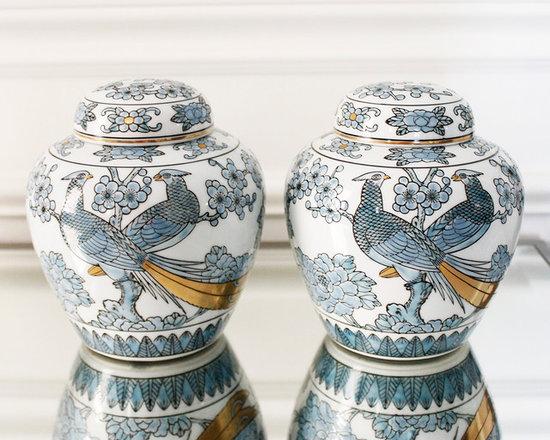 Vintage Decor Accessories - AM Dolce Vita, Gold Imari Vintage Chinoiserie Phoenix Peacock Ginger Jar Urn Vase