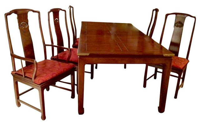 sold out classic henredon dining table with 6 chairs