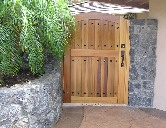 Hacienda Wood Gates traditional-home-fencing-and-gates