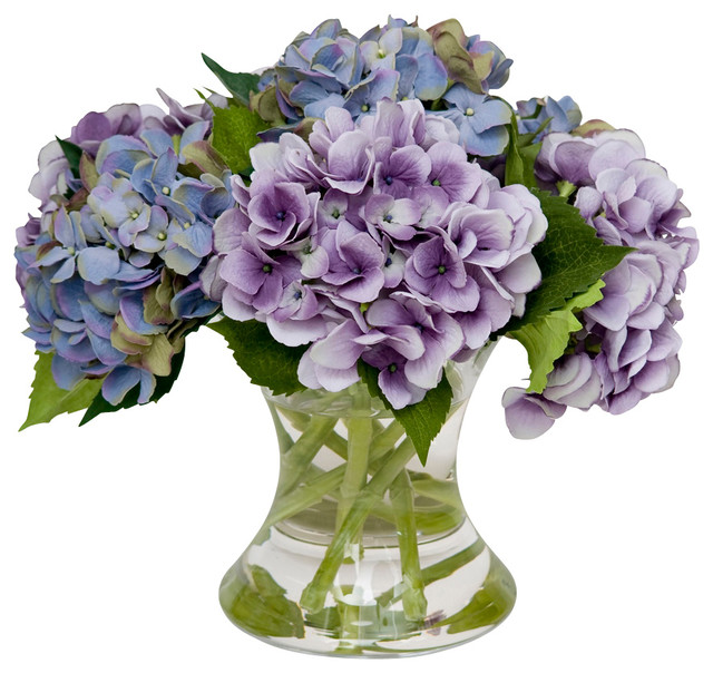Mixed Hydrangea Traditional Artificial Flowers Plants