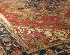 Washed Serapi Rug traditional rugs