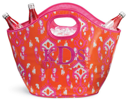 Tangerine Ikat Cooler Tote contemporary