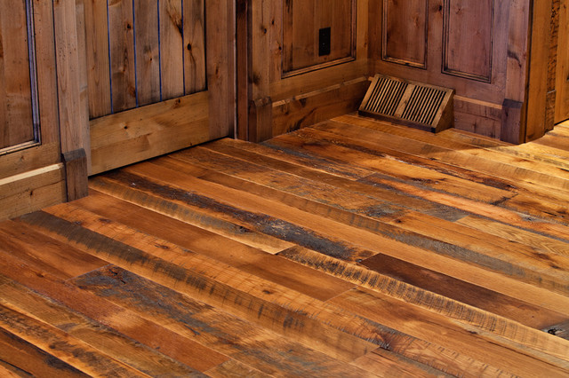Barnboard oak floor hardwood flooring cleveland by for Wood floor finishes
