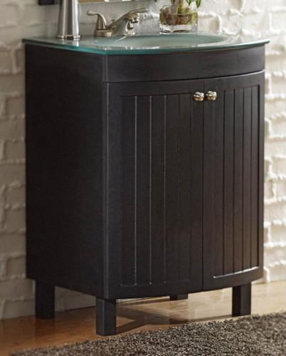 allen + roth Espresso Cavanaugh Bath Vanity with Top contemporary-bathroom-vanities-and-sink-consoles