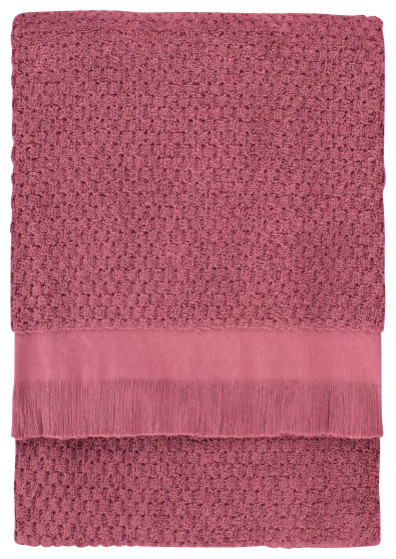 Dotty Bath Towel, Crushed Berry contemporary-bath-towels