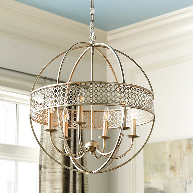 marais 6 light orb chandelier traditional chandeliers by ballard
