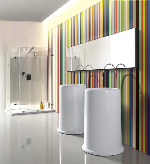 Riccio - Modern Pedestal Sink bathroom-sinks