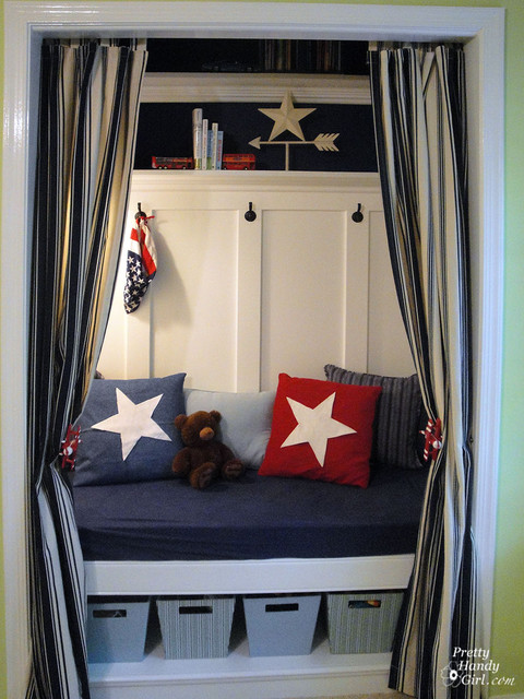 Closet Turned Into A Reading Nook Traditional
