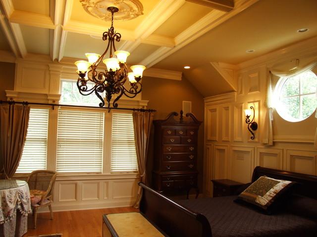 Master Bedroom Trim Accent Walls Traditional Bedroom