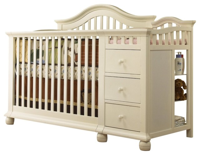 Modern Baby Beds : Modern Baby Cribs : French White Baby Crib
