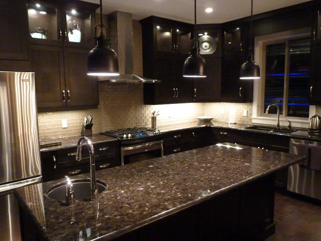 Custom kitchen contemporary other metro by steve for Modern dark brown kitchen cabinets