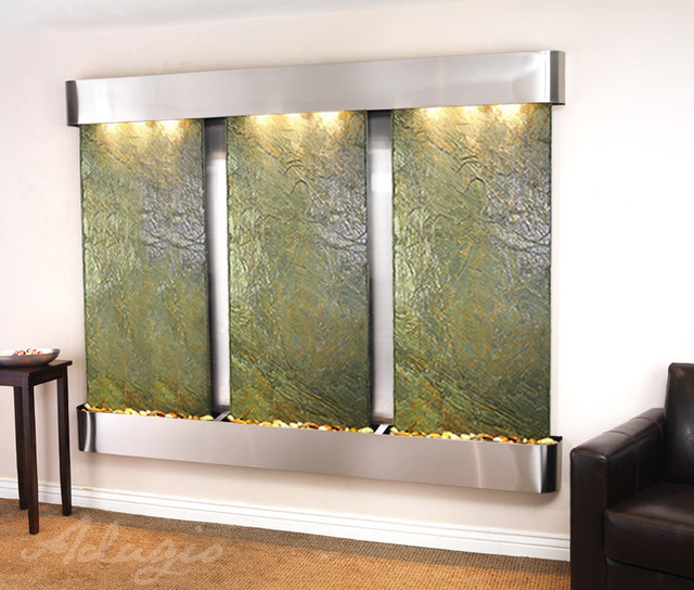 The Deep Creek Falls Wall Water Feature - Wall Fountian Porfolio contemporary-indoor-fountains
