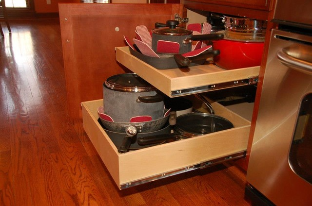 Pull Out Shelves - Traditional - Kitchen Drawer Organizers - louisville - by ShelfGenie of Kentucky