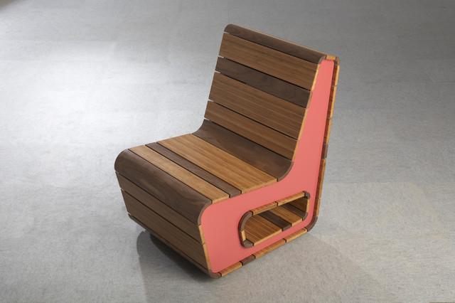 Stepping Wood Grain Chair contemporary-chairs