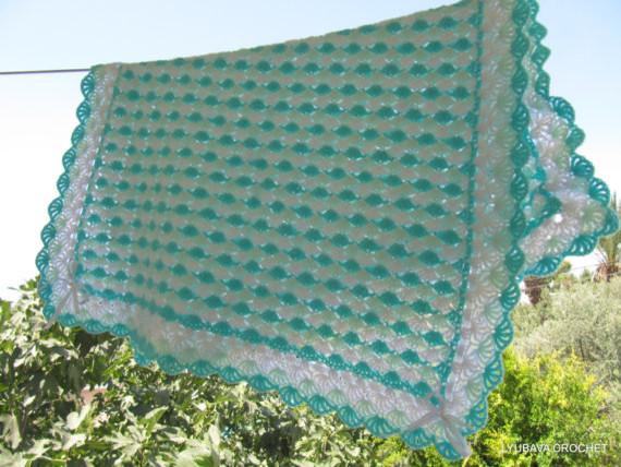 Modern Crochet Flower Pattern : Crochet Baby Blanket With 3-D Crochet Flowers by Love ...