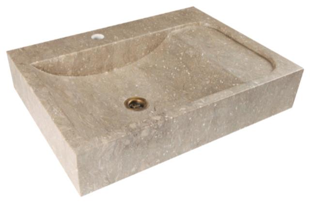 Carved Stone Sink : Carved Natural Stone and Marble Sinks - Mediterranean - Bathroom Sinks ...