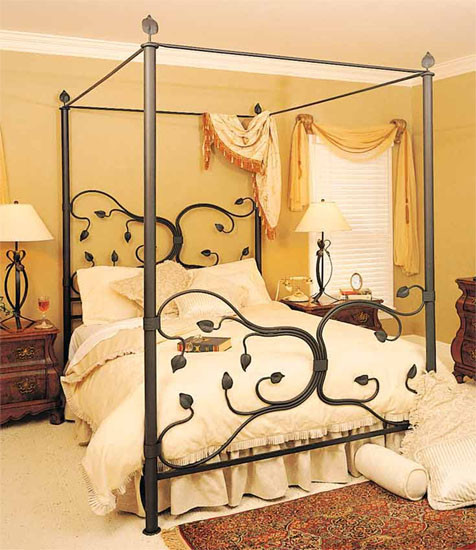Eden Isle Iron Canopy Bed - Stone County Ironworks eclectic-canopy-beds