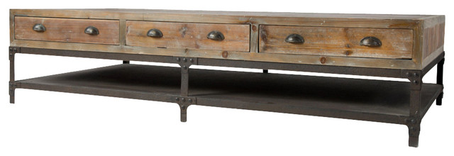 Sawyer Coffee Table Aged Iron Contemporary Coffee Tables By Marco Polo Imports