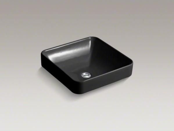 Kohler Vox Sink : KOHLER Vox(R) Square Vessel above-counter bathroom sink - Contemporary ...