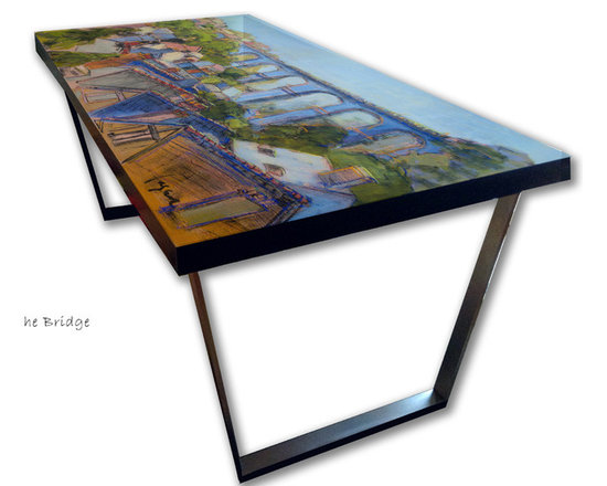 Hand Painted Dining Tables, French Architecture -