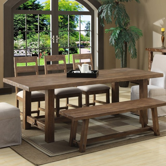 Emerald Home Bellevue Trestle Dining Table - modern - dining