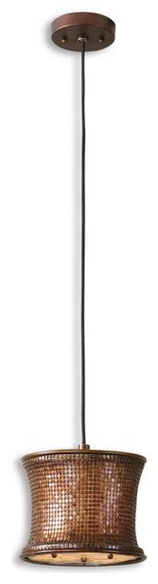 Uttermost 21851  Marcel Copper Mini Drum Pendant transitional-pendant-lighting