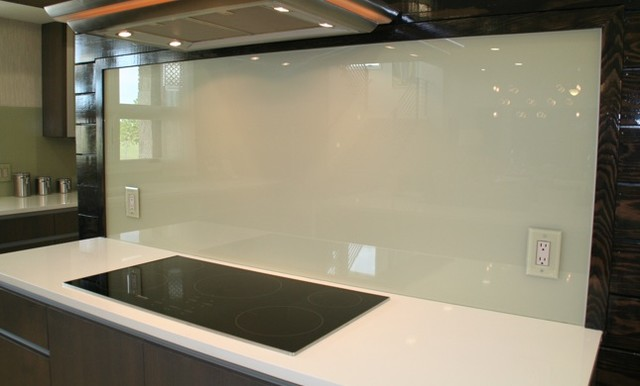 Texas home modern tile austin by dreamwalls glass for Back painted glass tile